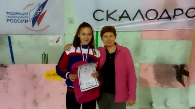 Елена Матяк-Яблучкина с тренером Еленой Левиной в Калининграде март 2018