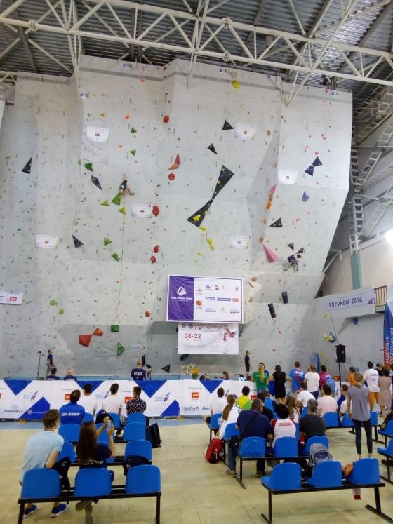 Севастопольские спортсмены на скалодроме в городе Воронеж июнь 2018 года
