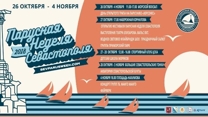 Парусная неделя в Севастополе с 26 октября по 4 ноября 2018