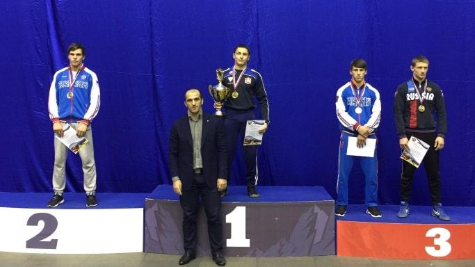 Награждение победителей по греко-римской борьбе Краснодар ноябрь 2018