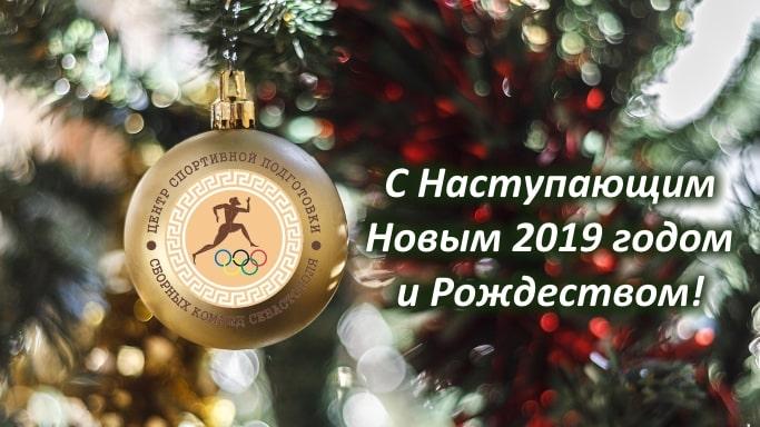 Коллектив ГАУ ЦСП СКС поздравляет с Новым 2019 годом