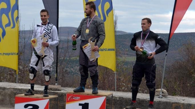 Победители среди мужчин на Чемпионате города Севастополя по велоспорту-маунтинбайку 2018