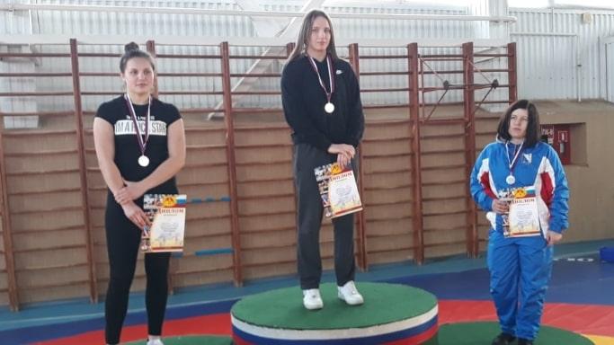 Победительница ЮФО по женской борьбе 2019 в весовой категории до 68 кг Гусева Валерия