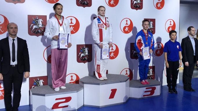 Дарья Дернова выиграла 3 место на международном турнире Московские Звёзды Ушу, Москва, февраль 2019 года