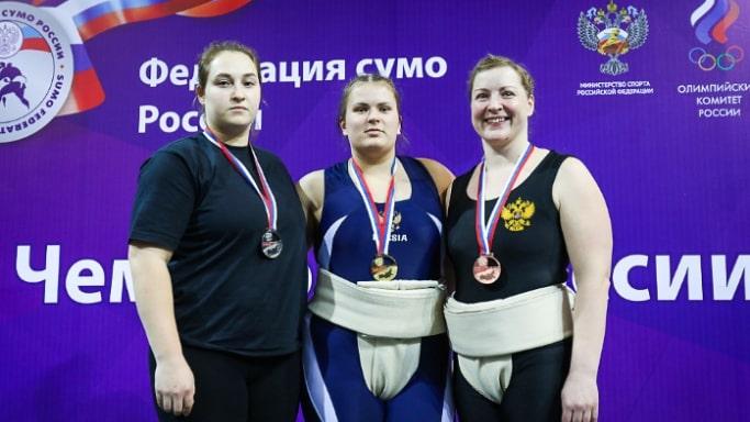 Анастасия Шашина 1 место на Чемпионате России по сумо 2019 года