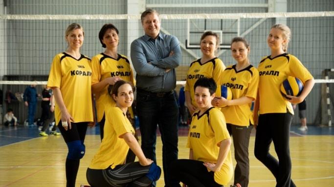 Женская команда АО ЦКБ Коралл по волейболу