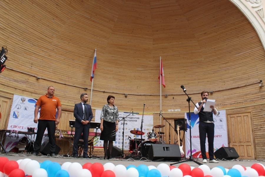 Приветствие победителей Спартакиады студентов города Севастополя 2019