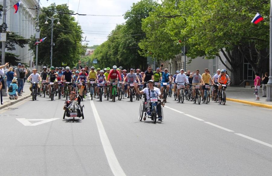 ВелоПобеда 2019 в Севастополе 26 мая на улице Ленина