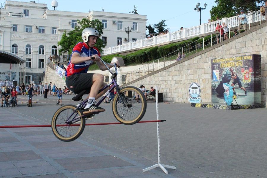 Веломастерство на Всероссийский олимпийский день в Севастополе 15 июня 2019 года