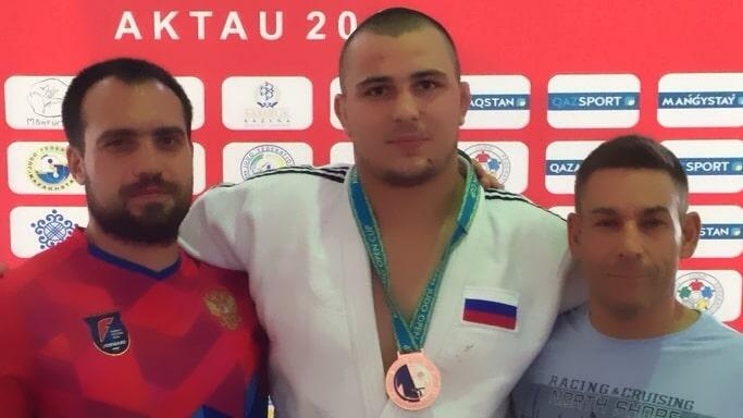 Александр Шалимов на Кубке Азии по дзюдо в городе Актау - Казахстан