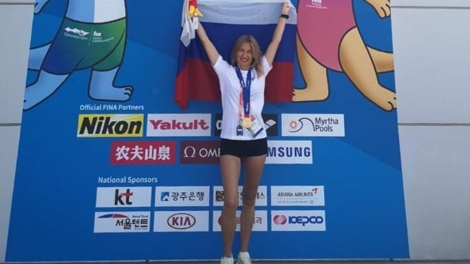 Илона Грачёва на чемпионате мира по водным видам спорта в Кванджу 2019