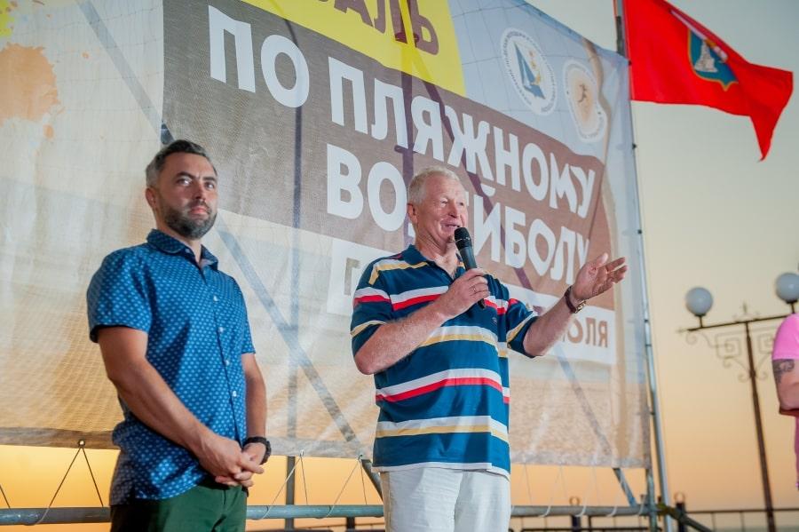 Владимир Веселкин на церемонии награждения фестиваля по пляжному волейболу Севастополя 2019 года