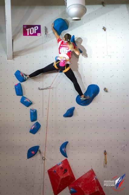 Елена Матяк-Яблучкина в финале первенства Европы-2019 по скалолазанию_4-min