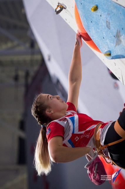 Елена Матяк-Яблучкина в финале первенства Европы-2019 по скалолазанию_6-min