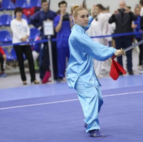 Елизавета Клочкова на Всероссийском турнире по ушу 2