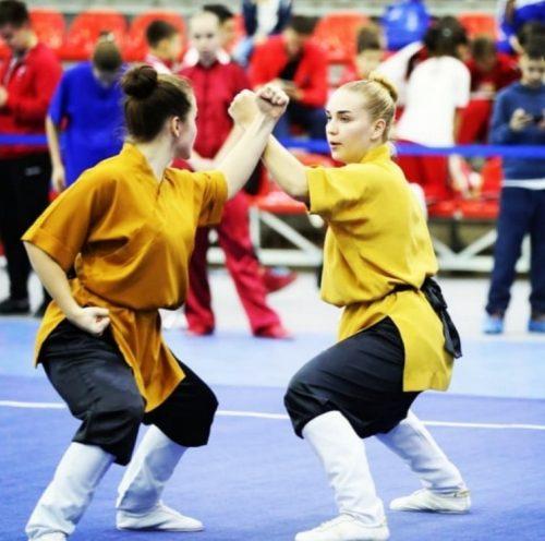 Ксения Лён и Елизавета Клочкова на Всероссийском турнире по ушу 4