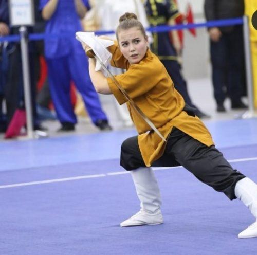 Ксения Лён на Всероссийском турнире по ушу 3