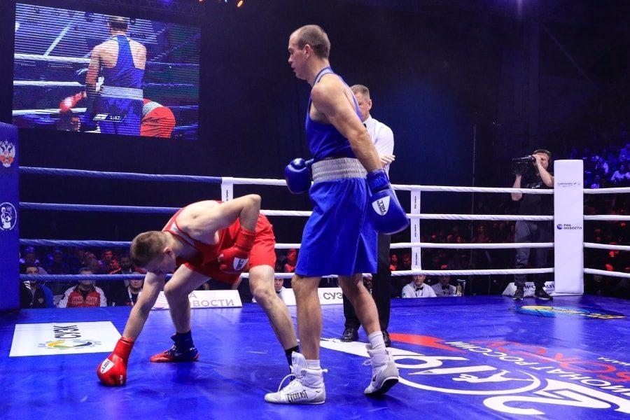 Максим Коптяков в финальном бое чемпионата России по боксу_4