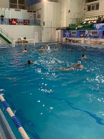 Сборная Севастополя по водному поло во время одного из матчей 2 тура ВС по мини водному поло Первая Лига _2
