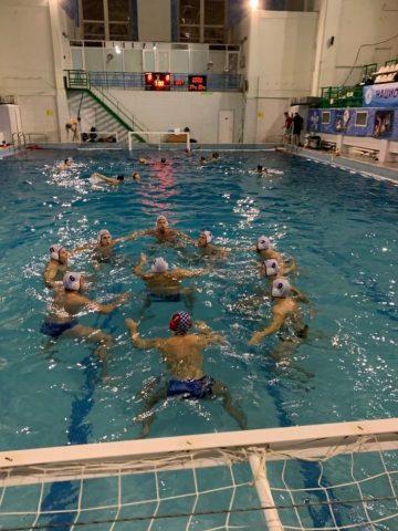 Сборная Севастополя по водному поло во время одного из матчей 2 тура ВС по мини водному поло Первая Лига _3