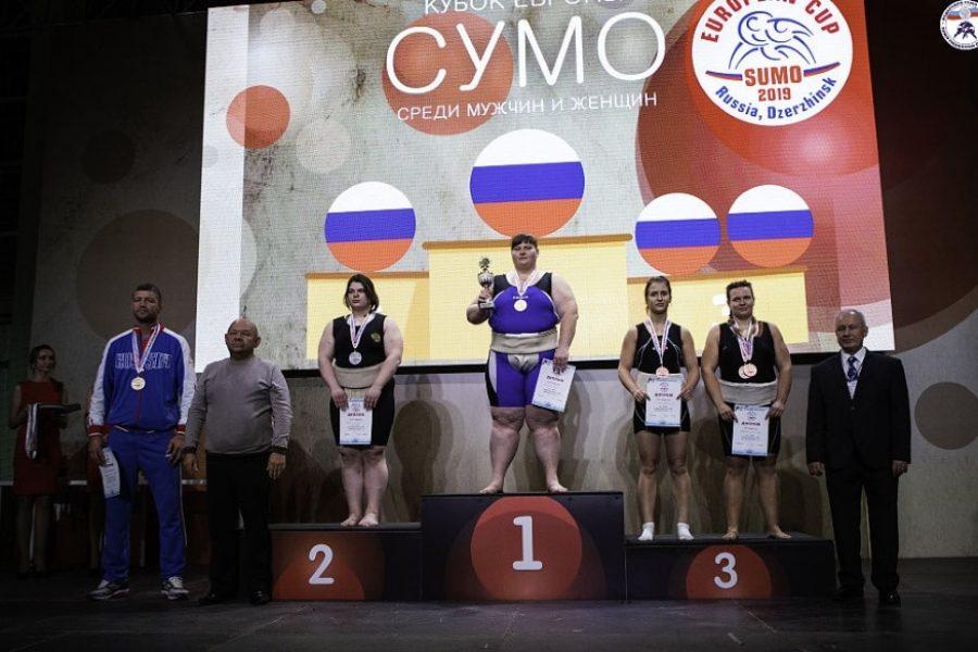 Татьяна Борисова — чемпионка в абсолютной категории Кубка Европы по сумо 2019