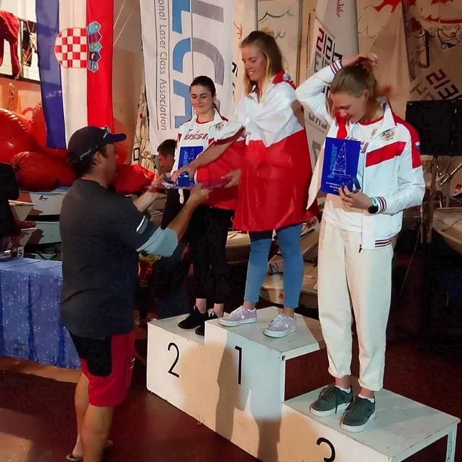 Валерия Ломатченко стала серебряной призёркой первенства мира в классе яхт Лазер-радиал