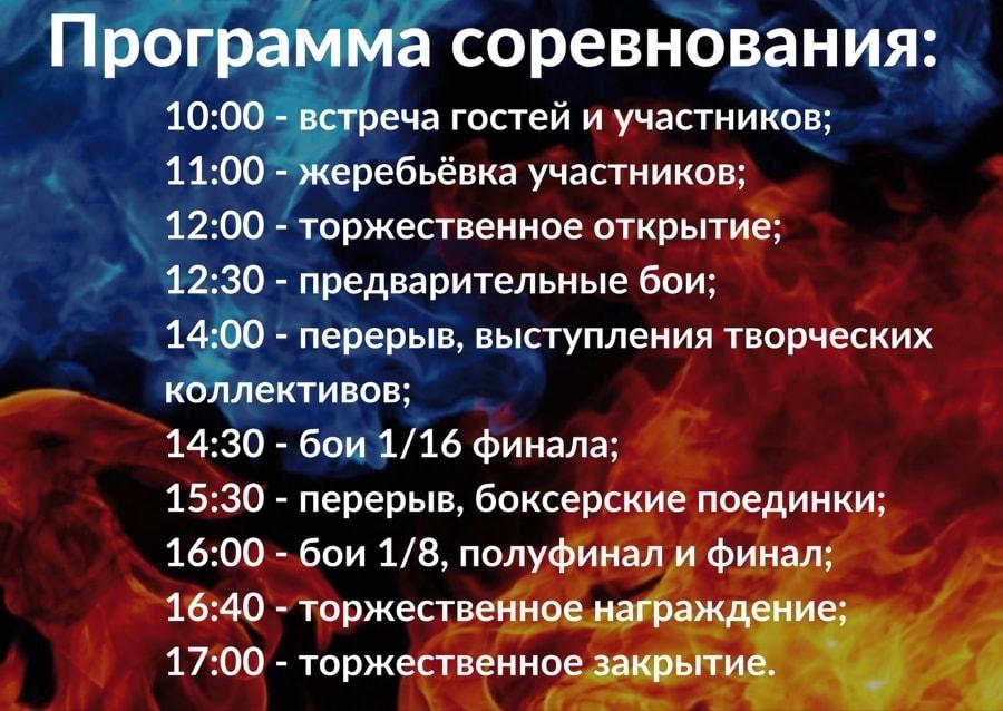 Программа соревнований по Кибербоксу 2019