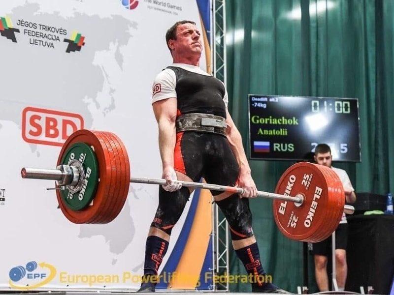 Анатолий Горячок на ЧЕ 2019 по классическому пауэрлифтингу 1
