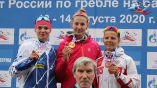 Анастасия Долгова на чемпионате России по гребле на байдарках и каноэ 2020