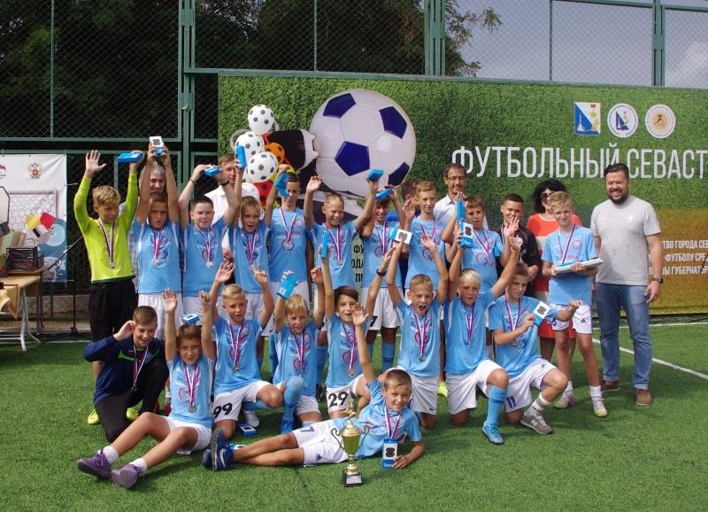 Победители футбольного турнира Кожаный мяч 2020 года в Севастополе