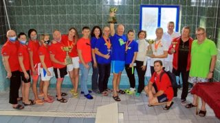 Команда Таврида Мастерс на XIII Открытом чемпионате Юга России по плаванию в категории «Мастерс»