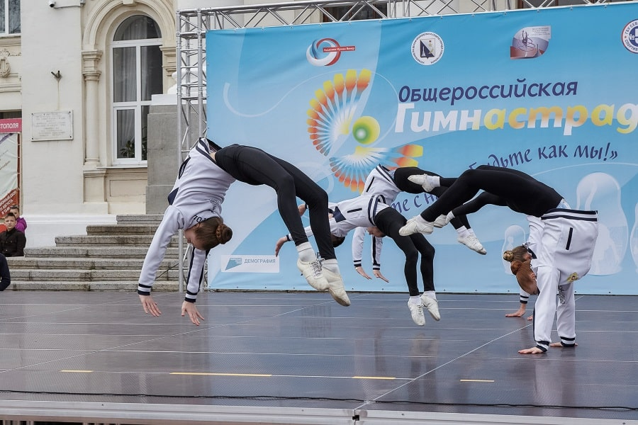 Выступление на марафоне Гимнастрада 2021 в Севастополе_7
